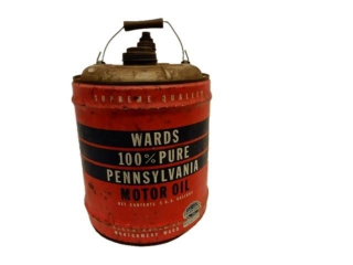 WARDS PENNSYLVANIA MOTOR OIL 5 U.S. GAL. CAN