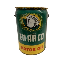 1953 EN-AR-CO MOTOR OIL 5 IMP. GAL. CAN