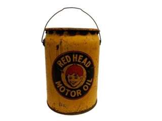 1946 RED HEAD MOTOR OIL 5 IMP. GAL. CAN