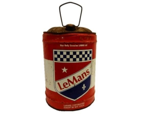 RARE LEMANS MOTOR OIL 6 U.S. GALLONS CAN