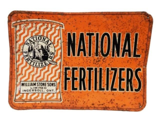 NATIONAL FERTILIZERS EMBOSSED SST SIGN