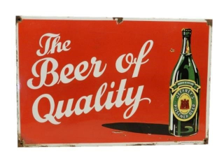 THE BEER OF QUALITY JERSEY'S PILSENER SST SIGN