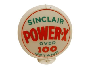 "SINCLAIR POWER-X GAS PUMP 13.5"" GLOBE"