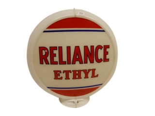 "RELIANCE ETHYL 13.5"" GAS PUMP GLOBE- ONE LENSE"