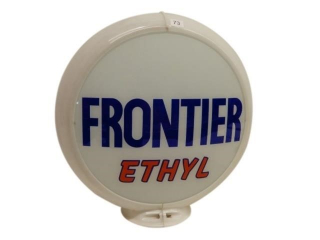 "FRONTIER ETHYL 13.5"" GAS PUMP GLOBE"