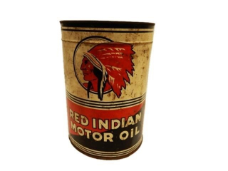 RED INDIAN MOTOR OIL IMPERIAL GALLON CAN