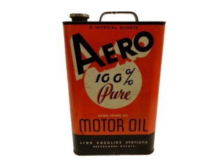 RARE AERO MOTOR OIL 8 IMPERIAL QUARTS CAN