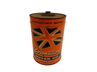 CORONATION MOTOR OIL IMPERIAL GALLON CAN