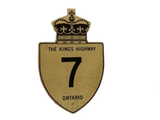 KING'S HIGHWAY 7 ONTARIO S/S ALUMINUM SIGN