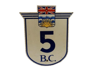 B.C. HIGHWAY 5 S/S PAINTED METAL SIGN