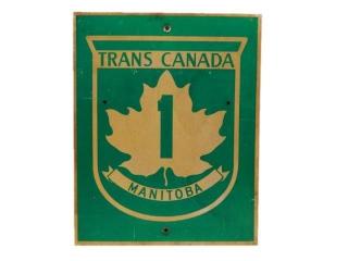 TRANS CANADA MANITOBA 1 S/S ALUMINUM SIGN