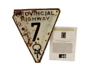 RARE ONTARIO PROVINCIAL HIGHWAY 7 SST SIGN