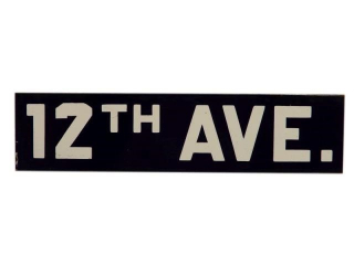 12TH AVE.SSP STREET SIGN
