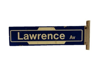 LAWRENCE AV. STREET D/S PAINTED ALUMINUM SIGN