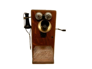 1913 OAK WALL MOUNT TELEPHONE