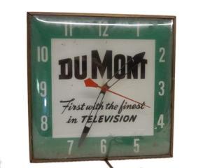 VINTAGE DUMONT TELEVISION ELECTRIC CLOCK