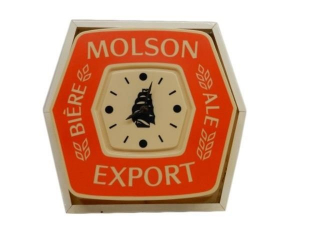 MOLSON EXPORT BIERE ALE  ELECTRIC CLOCK