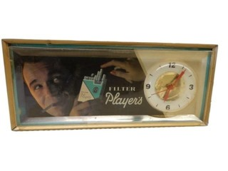 PLAYER'S FILTER ELECTRIC ADVERTISING CLOCK