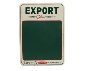 1967 EXPORT A  CANADA'S CIGARETTE SST CHALKBOARD