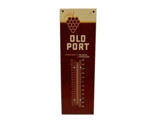 1970'S OLD PORT S/S PAINTED METAL THERMOMETER