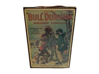 BULL DURHAM SMOKING TOBACCO CARDBOARD BOX-REPRO