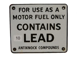 CONTAINS LEAD SSP GAS PUMP PLATE