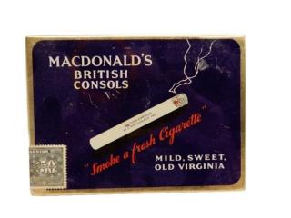 MACDONALD'S BRITISH CONSOLS CIGARETTE FLAT 50