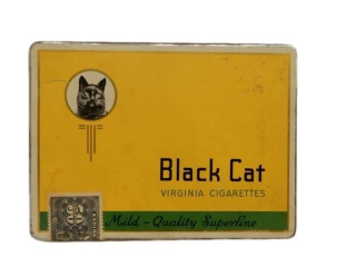 BLACK CAT VIRGINIA CIGARETTES  FLAT 50