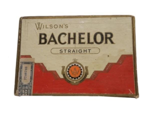 VINTAGE WILSON'S BACHELOR STRAIGHT CIGAR BOX