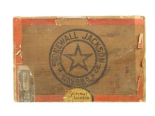 RARE 1920'S STONEWALL JACKSON CIGAR BOX