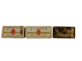 LOT OF 3 TURRET CIGARETTES  FLAT 50 & 100
