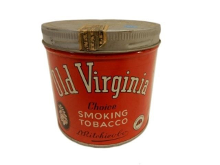 OLD VIRGINIA SMOKING TOBACCO 1/2 LB. CAN