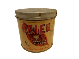 BRIAR VIRGINIA TOBACCO .85 CENT 1/2 LB. CAN
