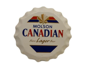 MOLSON CANADIAN LAGER BEER S/S ALUM. BOTTLE CAP