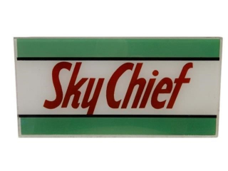 SKY CHIEF GAS PUMP AD GLASS