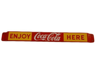 ENJOY COCA-COLA HERE S/S PAINTED METAL PUSH BAR