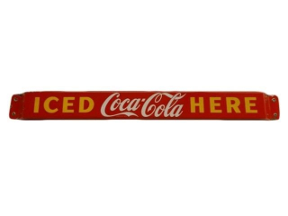 1958 COCA-COLA ICED HERE SSP PUSH BAR