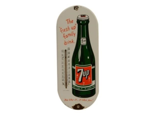 "7UP ""THE FRESH UP FAMILY DRINK"" SSP THERMOMETER"
