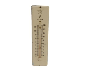 TCA TRU-TEMP ADV. S/S PAINTED METAL THERMOMETER