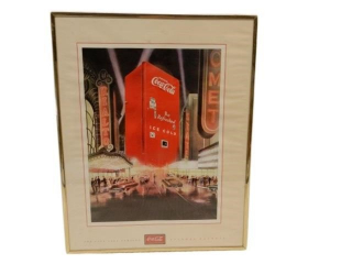 FRAMED COCA-COLA  RAILTO CAR PRINT