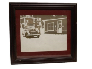 FRAMED 1950'S COCA COLA  BLACK & WHITE PRINT