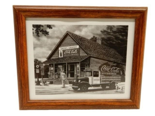 FRAMED SMITH GROCERY COCA-COLA PRINT