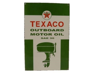 TEXACO OUTBOARD MOTOR OIL SAE30 SSP SIGN