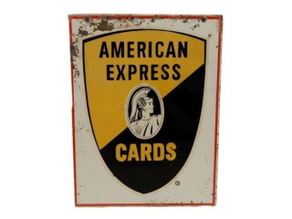 AMERICAN EXPRESS CARDS S/S PAINTED METAL SIGN