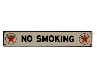 TEXACO NO SMOKING SSP SIGN