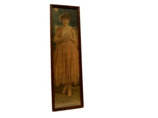 1921 POMPEIAN CO. BEAUTY PANEL FRAMED ADVERTISING