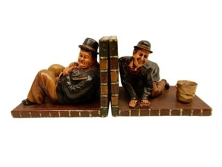 LAUREL & HARDY COMPOSITE BOOK ENDS