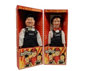 LAUREL & HARDY BE A VENTRILOQUIST'S / BOXES