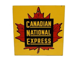1930'S/ 40'S CANADIAN NATIONAL EXPRESS SSP SIGN
