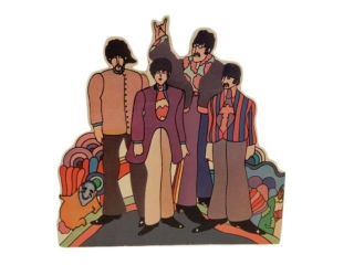 BEATLES DIECUT S/S CARDBOARD ADVERTISING CUTOUT